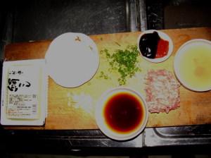 マーボ豆腐材料
