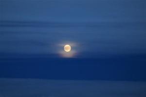 機上からの月