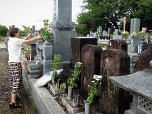 実家の墓参り