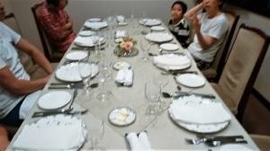 家族とフランス料理