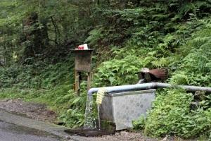 伏流水の水汲み場