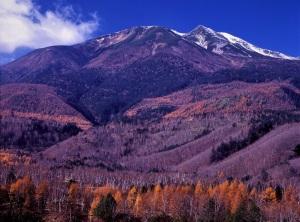 乗鞍高原から乗鞍岳を望む