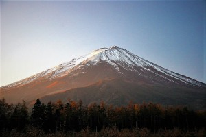 鳴沢村からの富士山